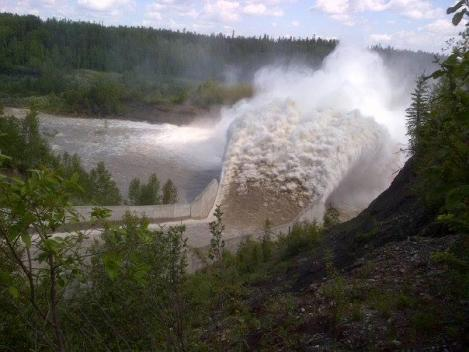BrazeauDamoutflow near Drayton Valley